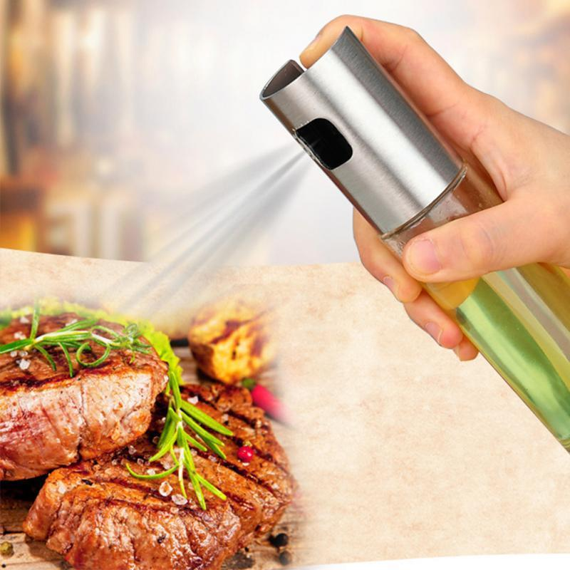 Glass Olive Oil Sprayer for Cooking Salad BBQ Kitchen Baking