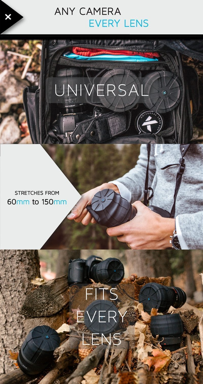 Silicone Universal Lens Cap for DSLR Camera Lenses