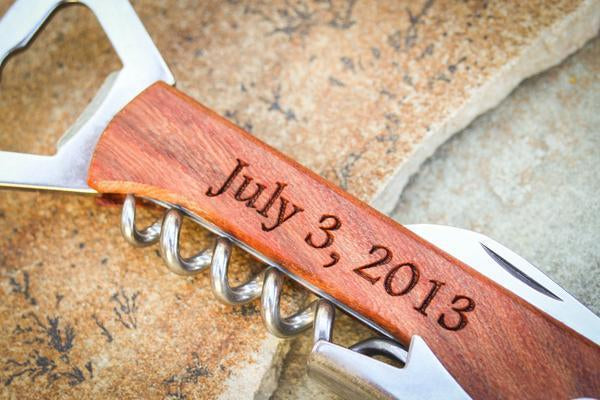 Personalized Engraving Corkscrew + Wine Bottle Opener
