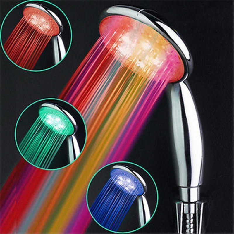Colorful Bathroom LED Shower Water Light