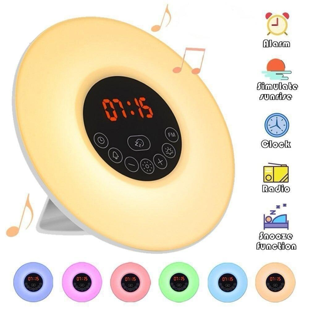 Sunrise Simulation Digital Alarm Clock