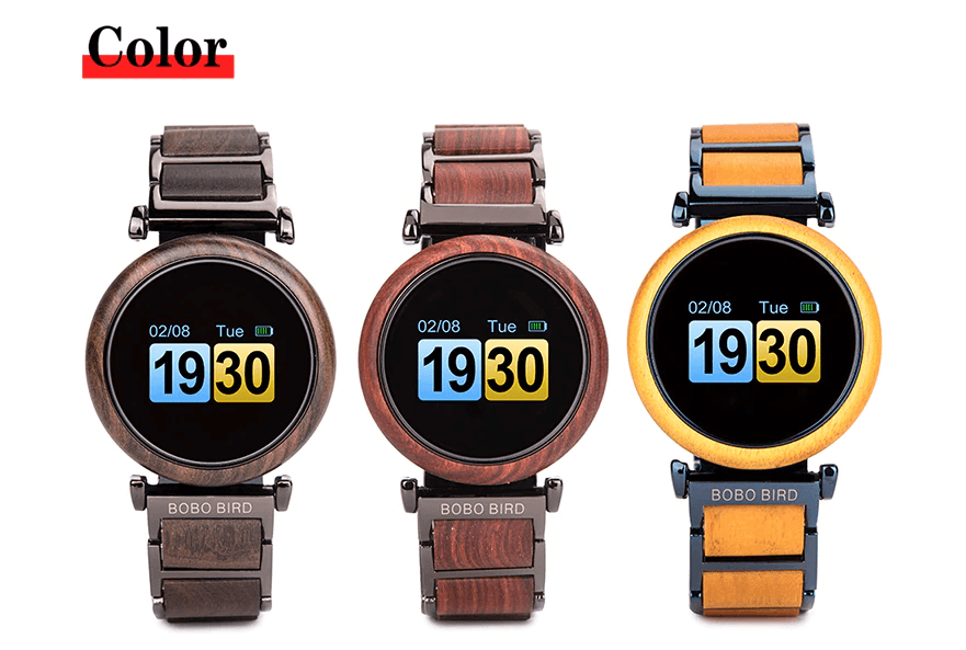 Touch Screen Wooden Watch For Men and Women in Wood Gift Box