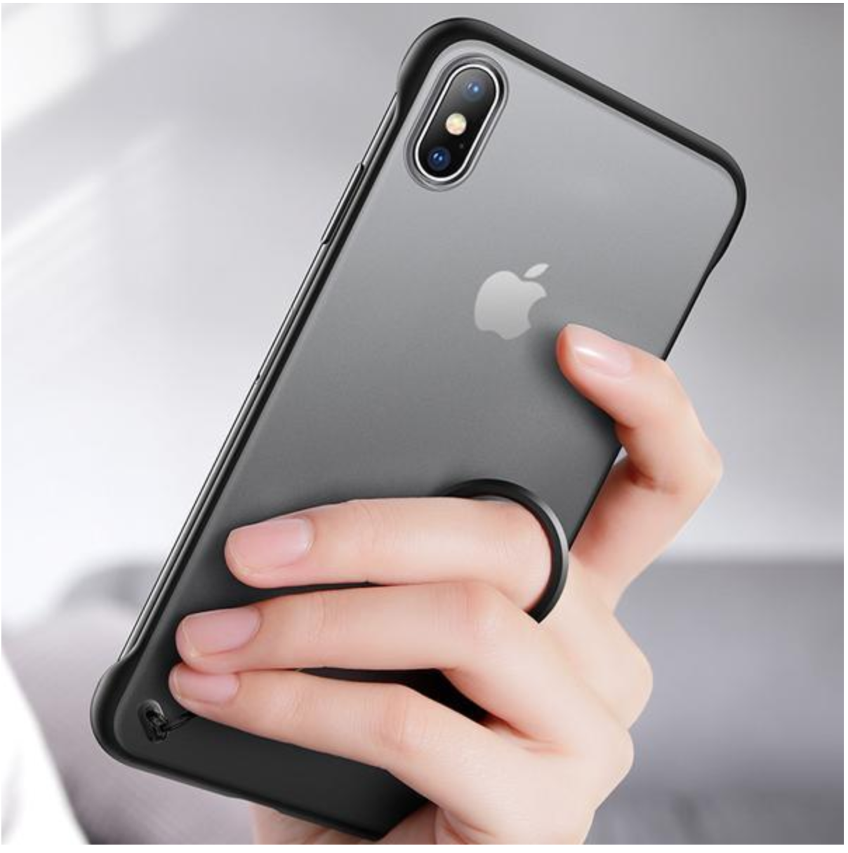 iphone Silicone Case With Finger Ring