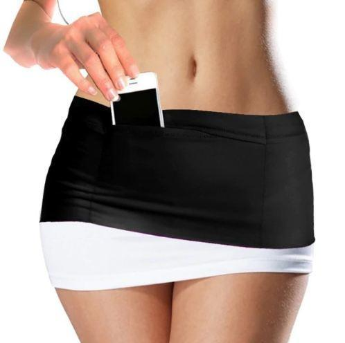 Elastic Running Fitness Waist Belt With Multi Pockets
