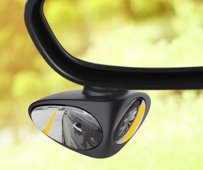 2 in 1 Car Blind Spot Mirror, 360 Degree Rotate Adjustable Stick-on Convex Rear View Mirror