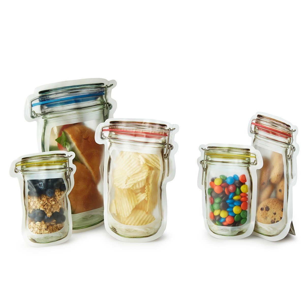 Vintage Jar Reusable Storage Bags 10-Pack