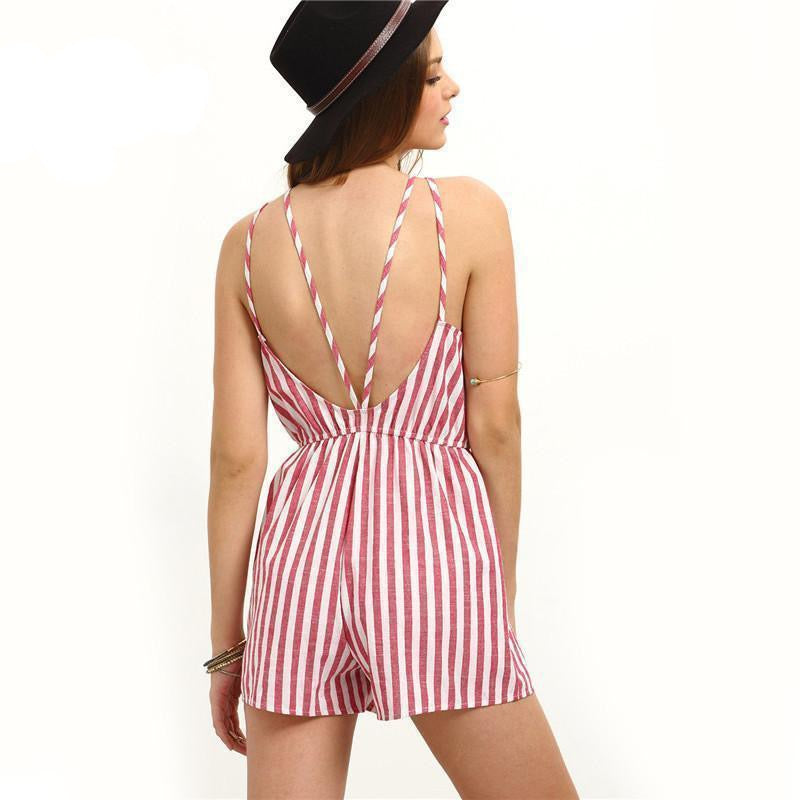 COLROVIE Sleeveless Summer Style Beach Rompers