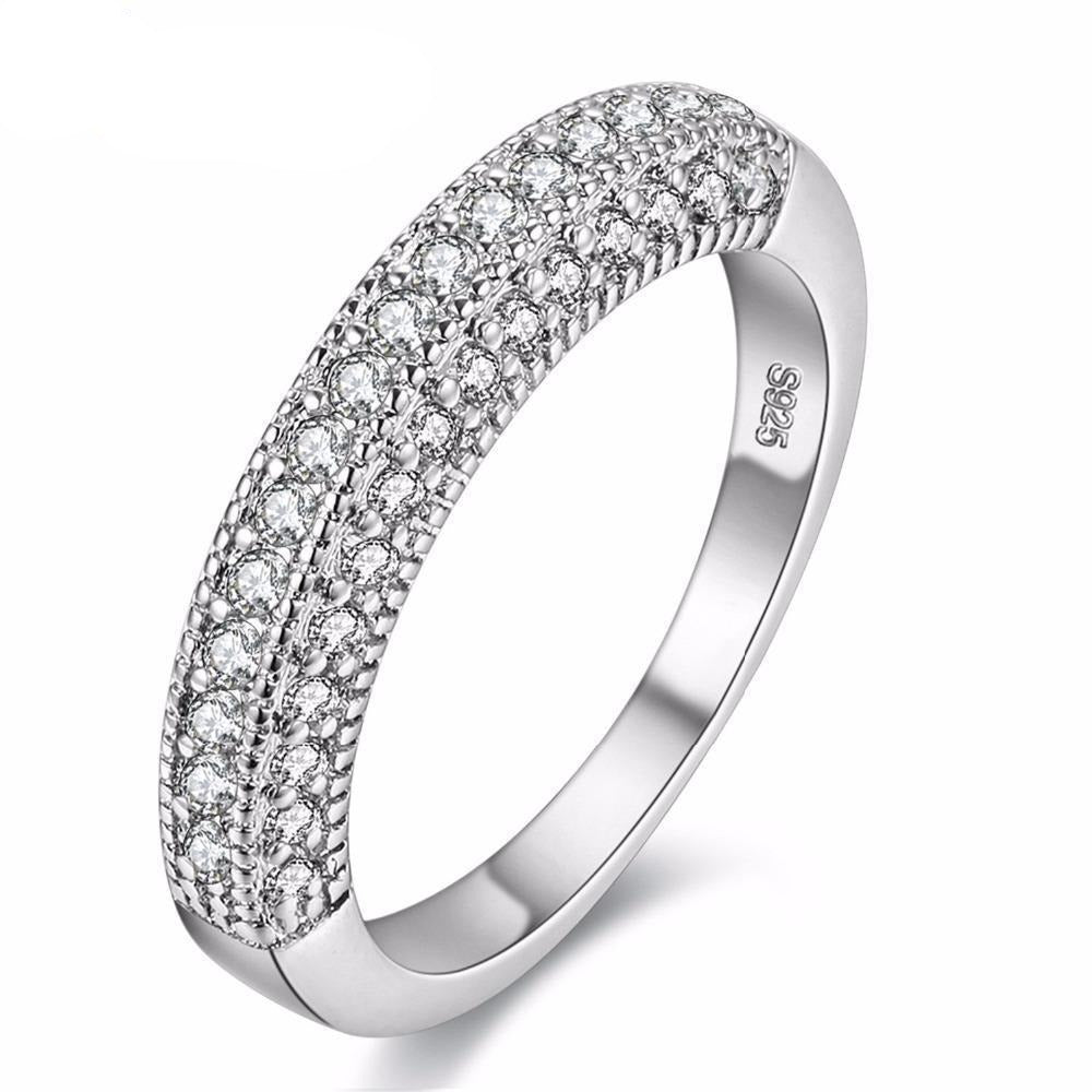Wedding Zirconia Zircon Cut Cute Rings