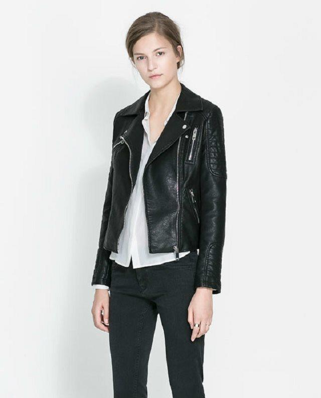 Black Blazer Soft Faux Leather Jackets
