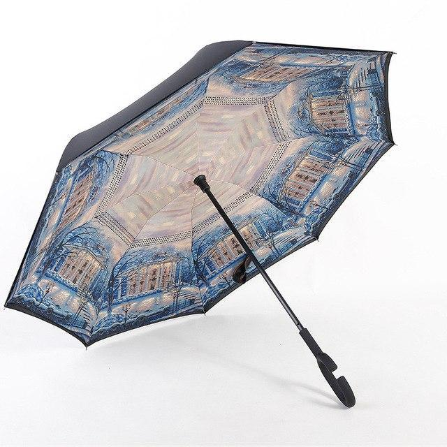 Double Layer Reverse Folding Umbrella