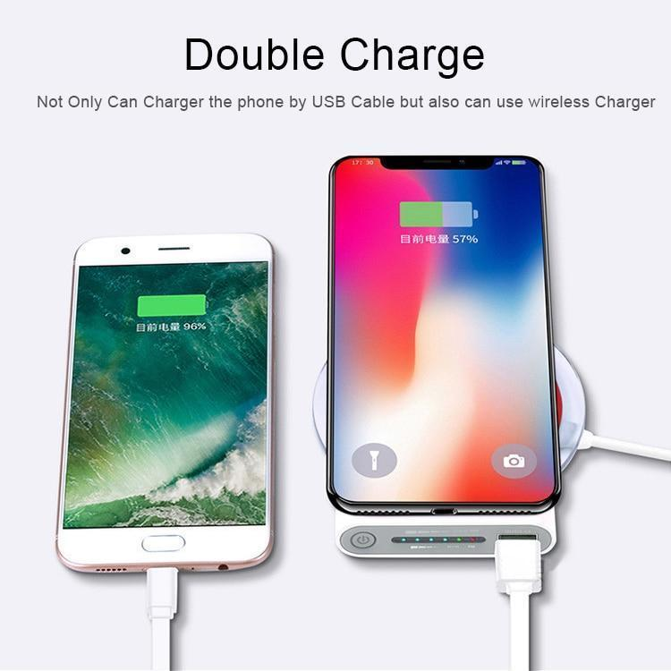Qi Wireless Power Bank Charger For iPhone and Android