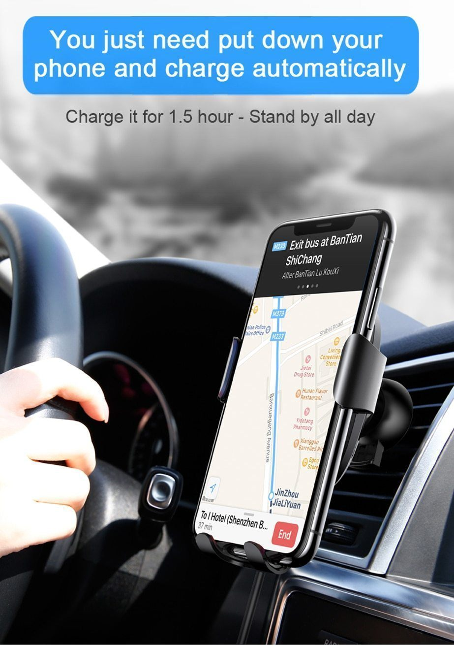 Premium Wireless Car Fast Charger