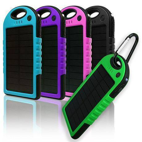 USB Dual Port Solar Powered Phone Charger - Portable