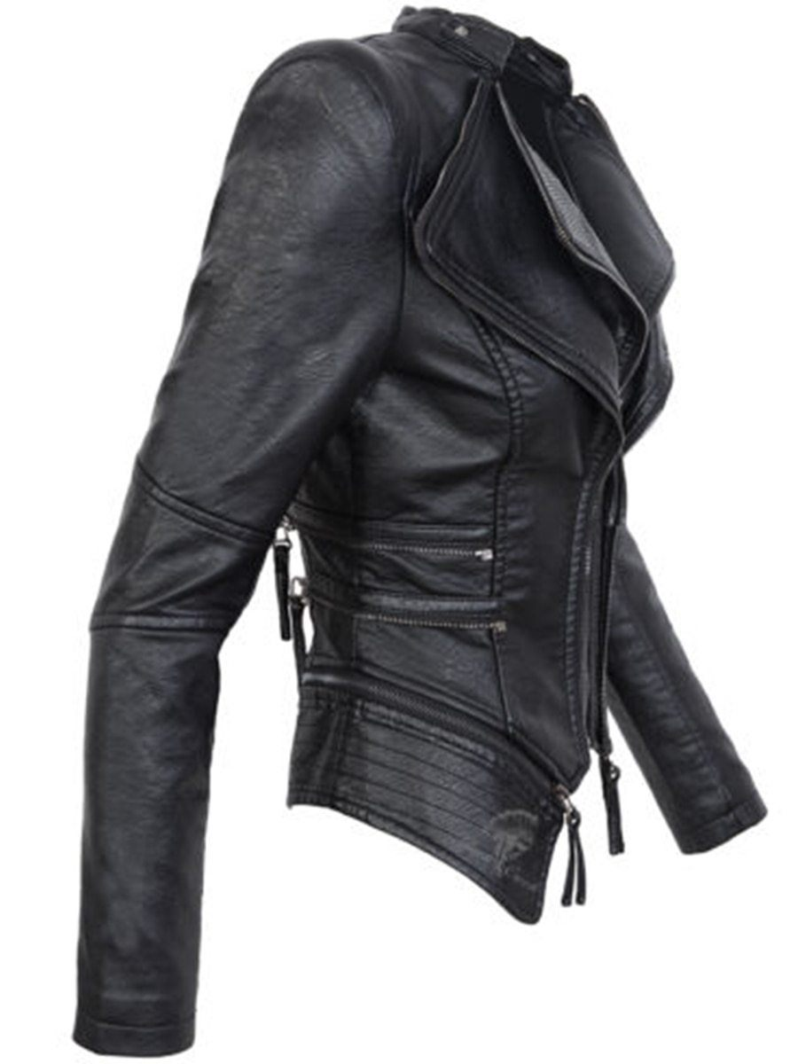 Gothic Faux Leather PU Jacket