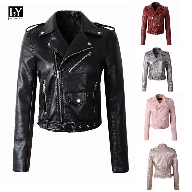 Ly Varey Lin Women Faux Soft Leather Jacket