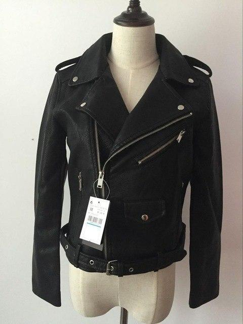 2018 Long Sleeve  Faux Soft Leather Jackets