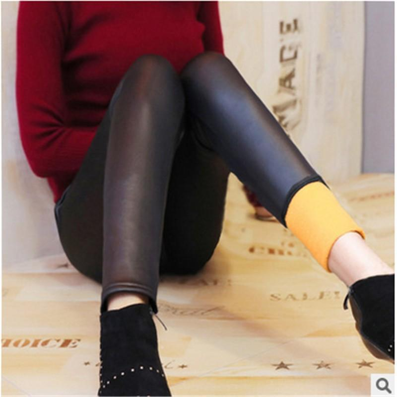 Women Faux Leather Tights Stretchy Skinny Joint Leggings Pants
