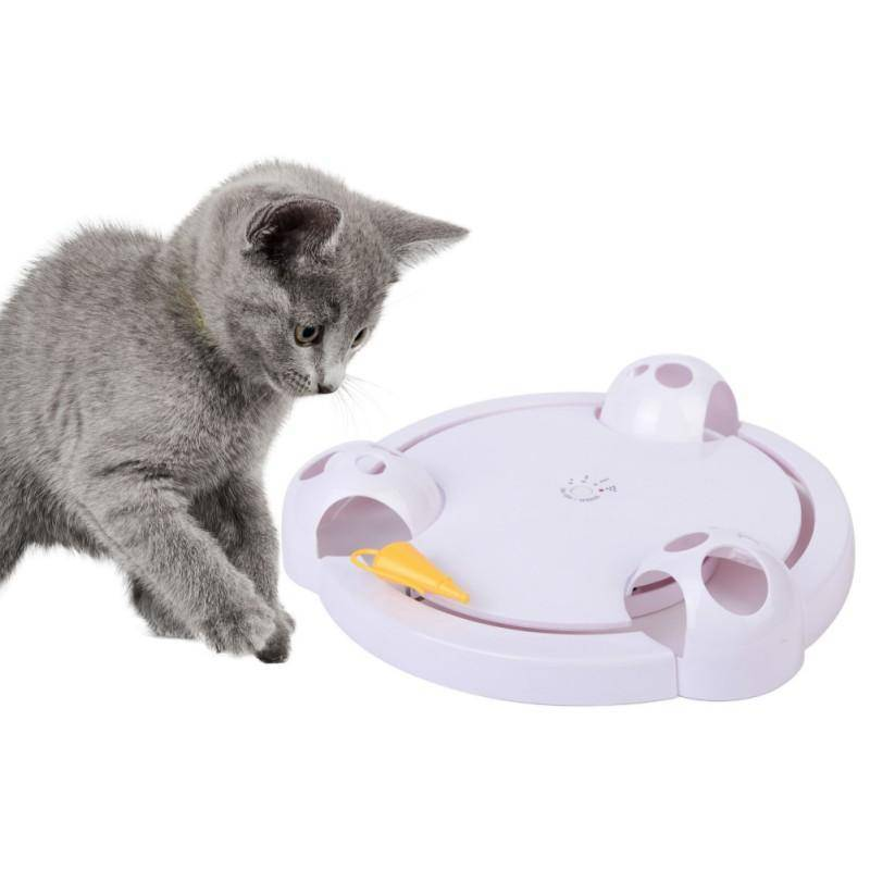 Interactive Cat Toy - Automatic Rotating Mouse Chasing Game