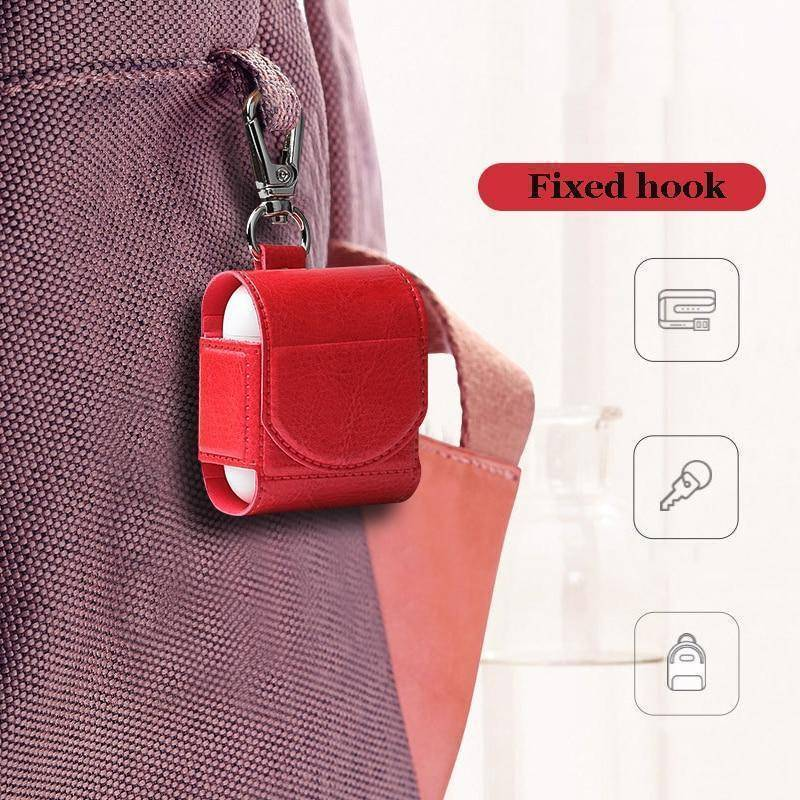 Apple Airpods Vegan Leather Case Shockproof Cover