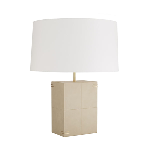 Beige Leather Lamp