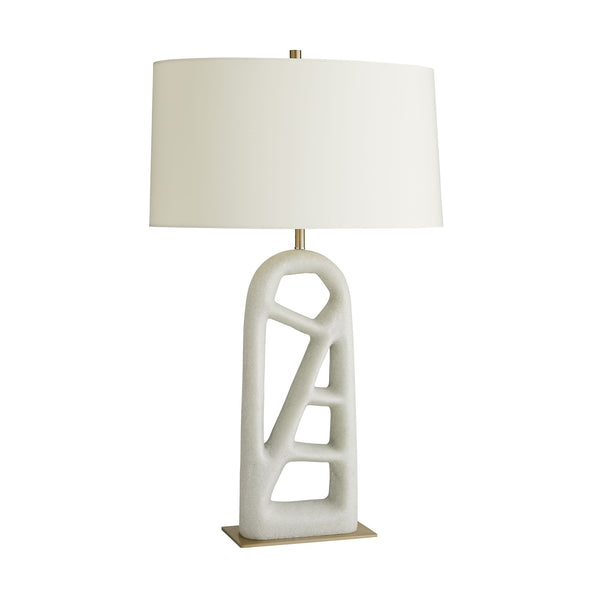 White Arched Table Lamp