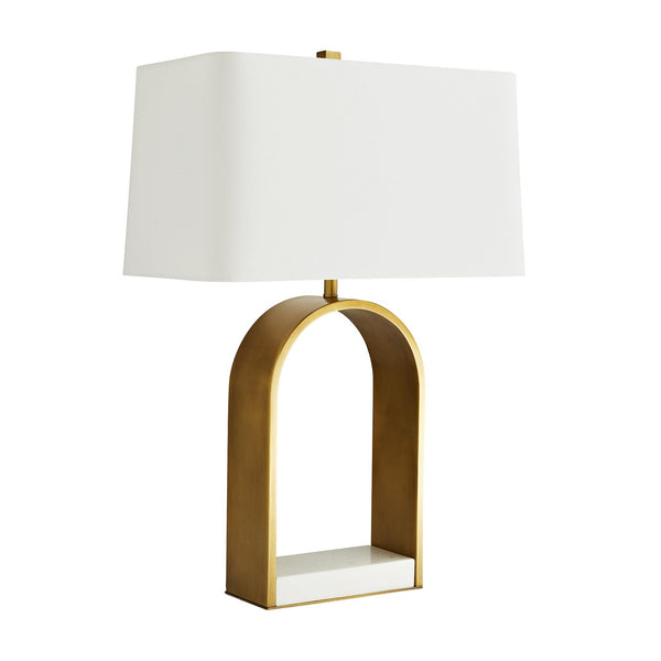 Brass and Marble Lamp