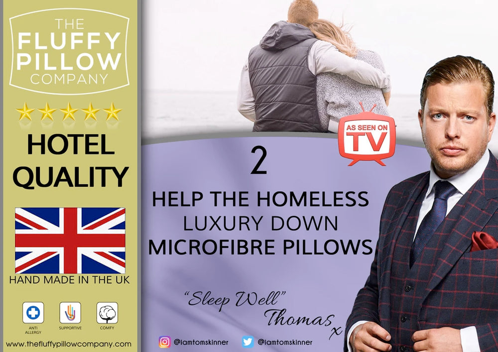 Load image into Gallery viewer, Help The Homeless - The Luxury Down Microfibre Pillow (set of two pillows)