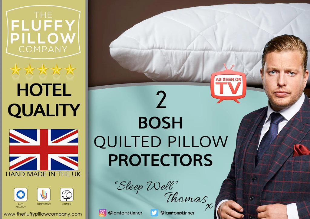2 BOSH Quilted Pillow Protectors