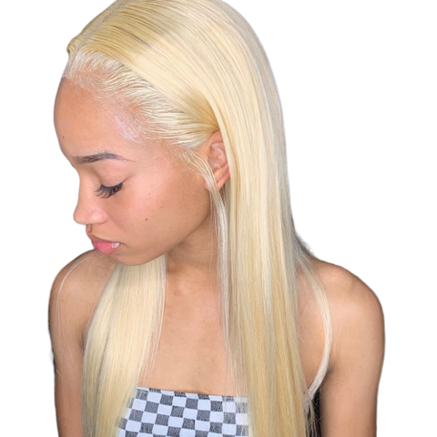 613 BLONDE STRAIGHT VIRGIN HAIR BUNDLE DEAL