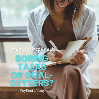 Being Disciplined.  Boring tasks or Goal getters?