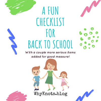 A Fun Checklist for Back to School
