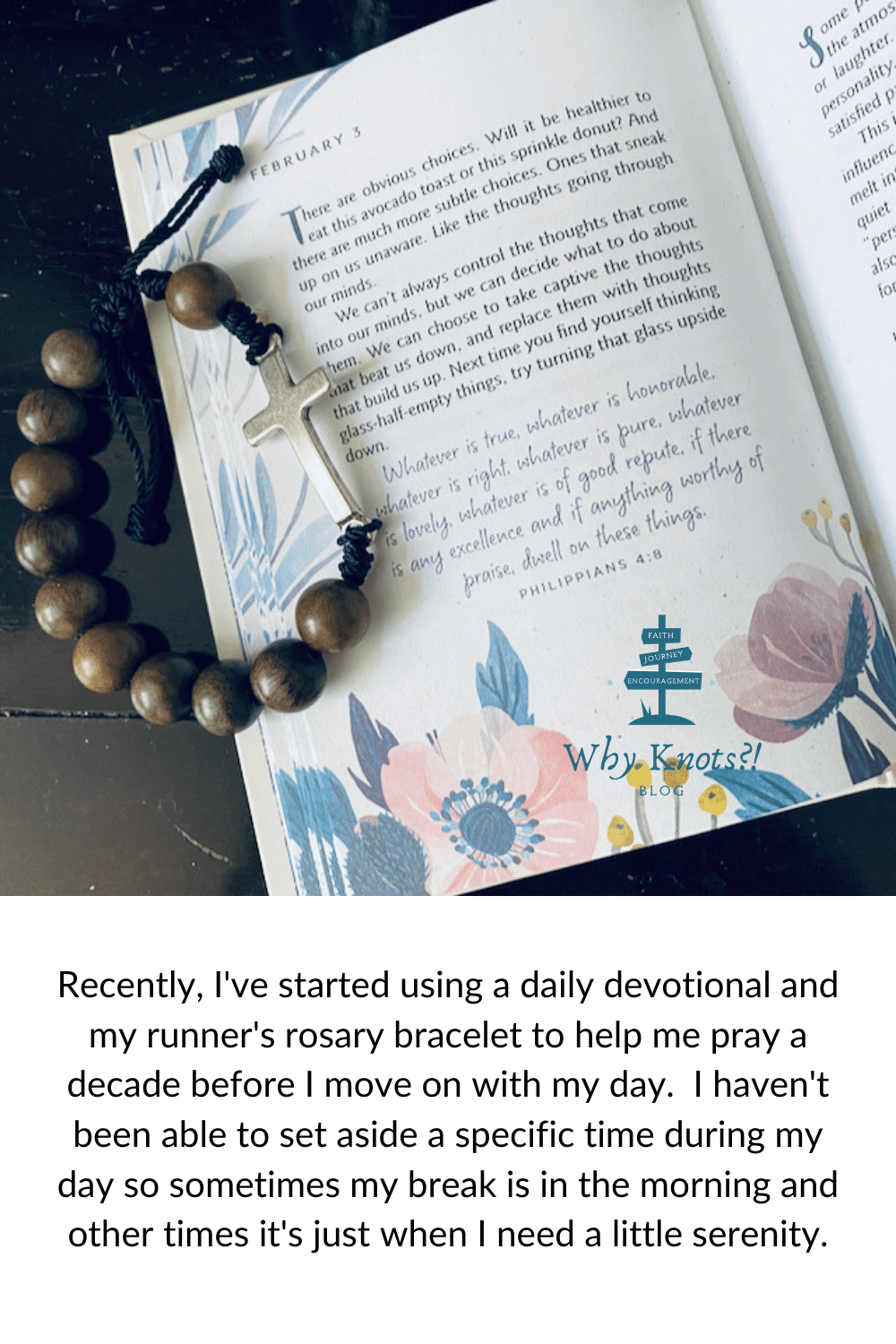 Knots of Grace Runners Rosary Bracelet Why Knots Blog