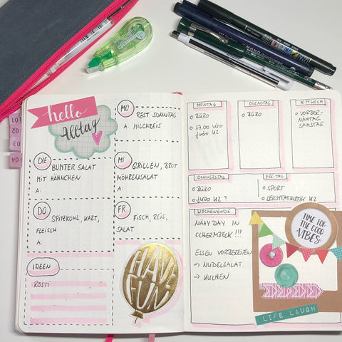 Bullet Journal Wochenplanung