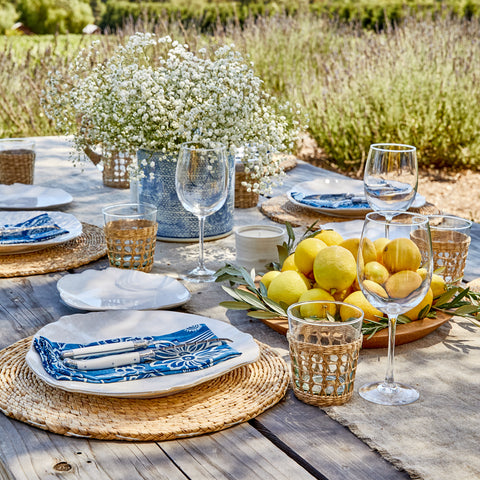 A spring table setting.