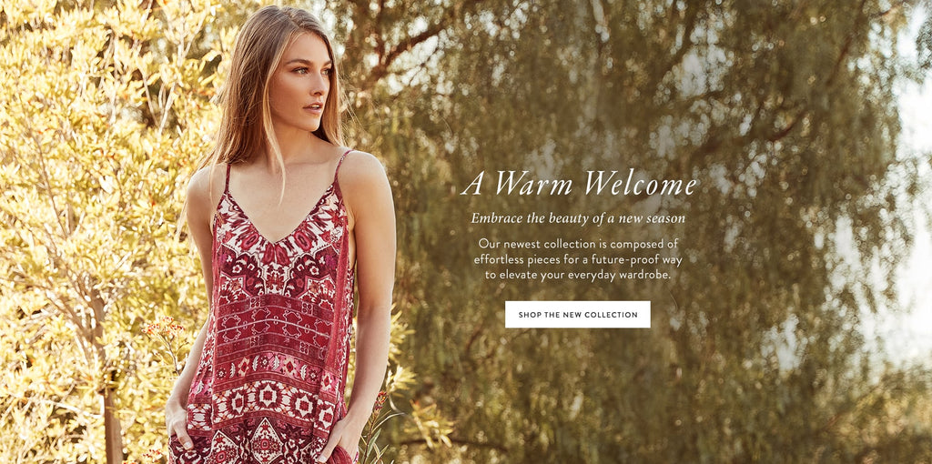 A warm welcome shop the new collection
