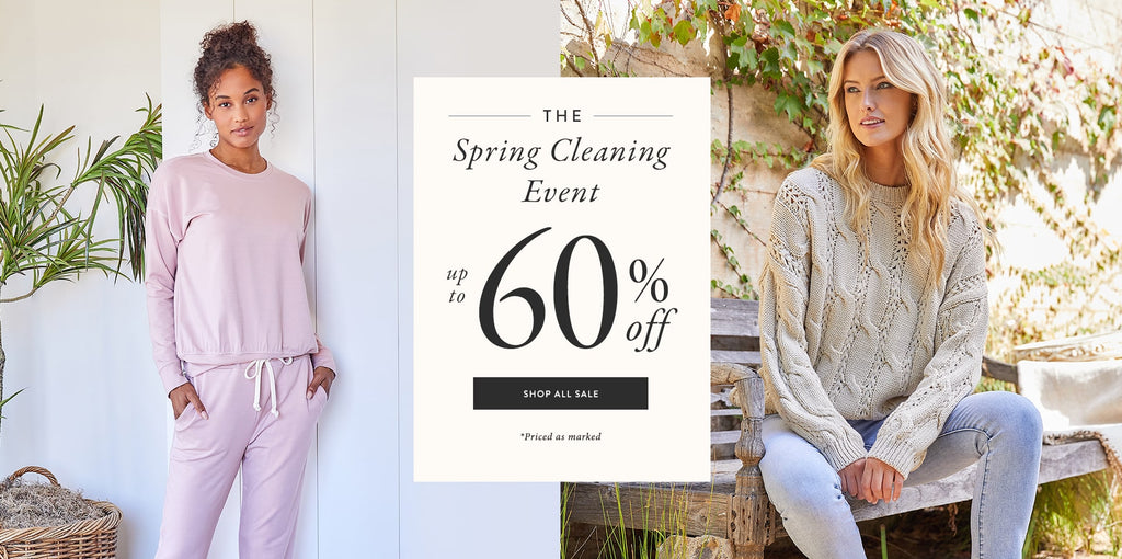 Spring cleaning event up to 60% off