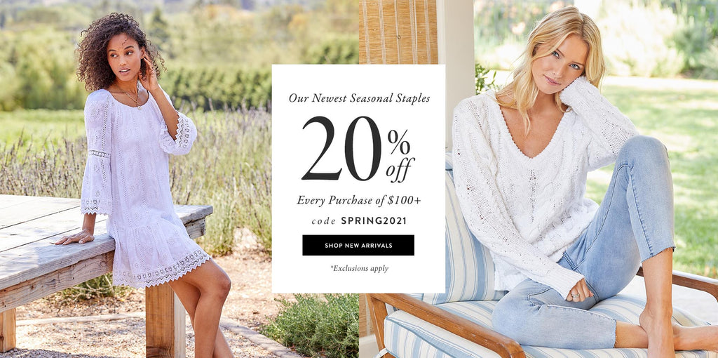 Enjoy 20% off every purchase of $100+ use code: SPRING2021