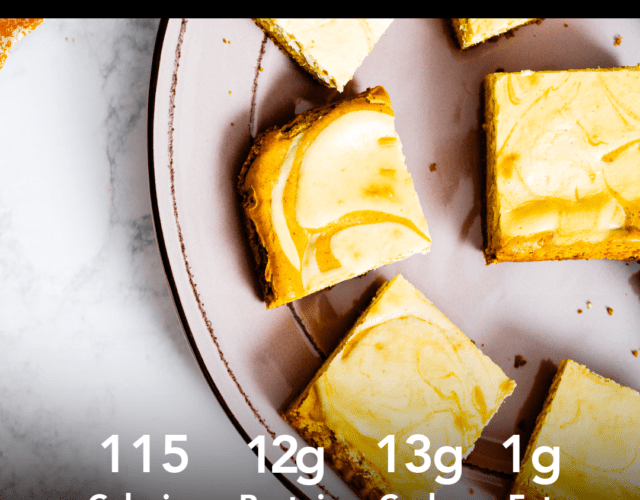 Protein Pumpkin Cheesecake Bars