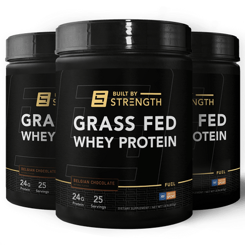3 Stack BuiltByStrength Grass-Fed Whey