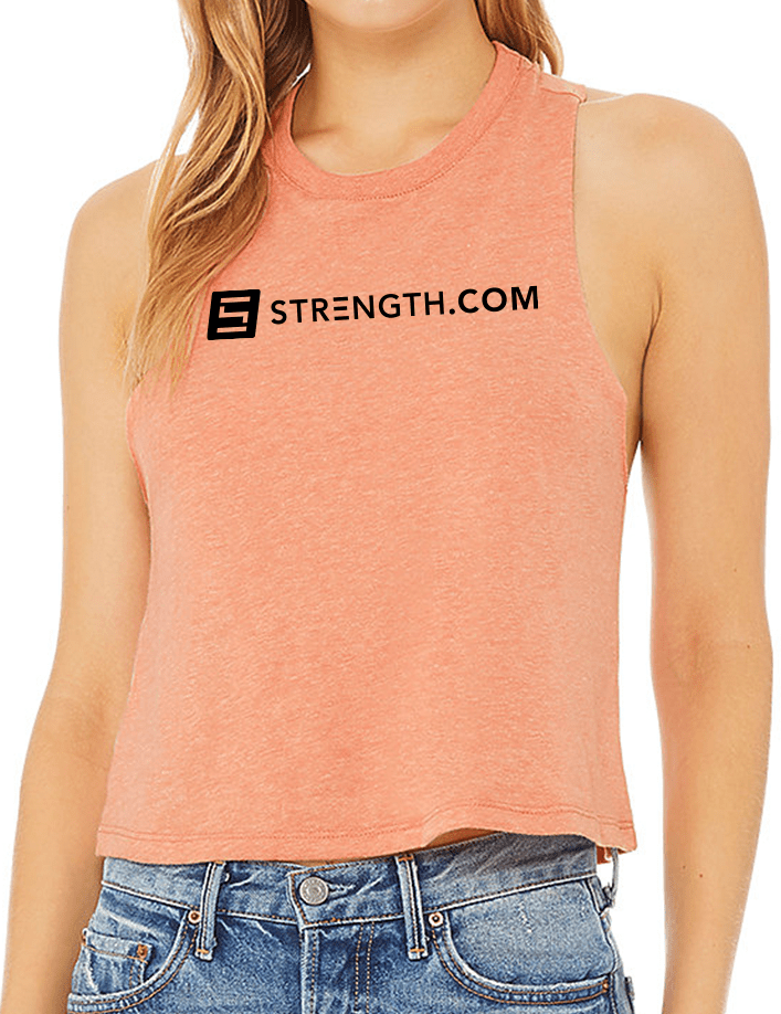 Built By Strength - Women's Builtbystrength Racerback Cropped Tank Tops