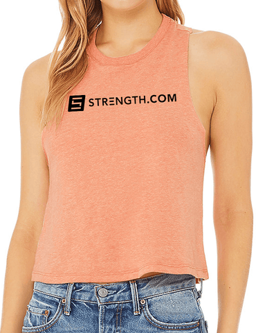 Women's BuiltByStrength Racerback Cropped Tank Tops