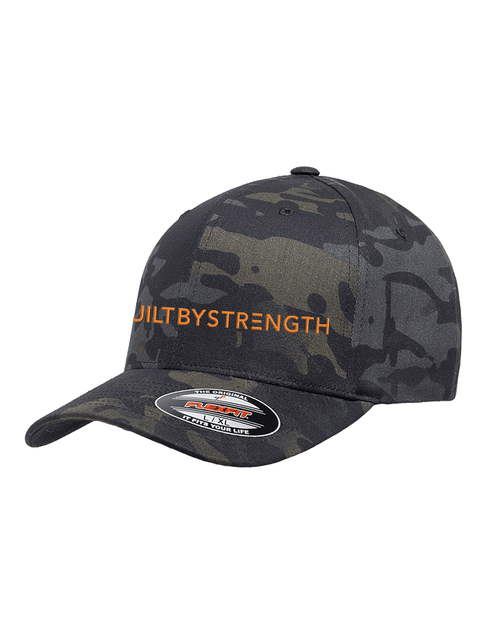 BuiltByStrength Fitted Camo Hat