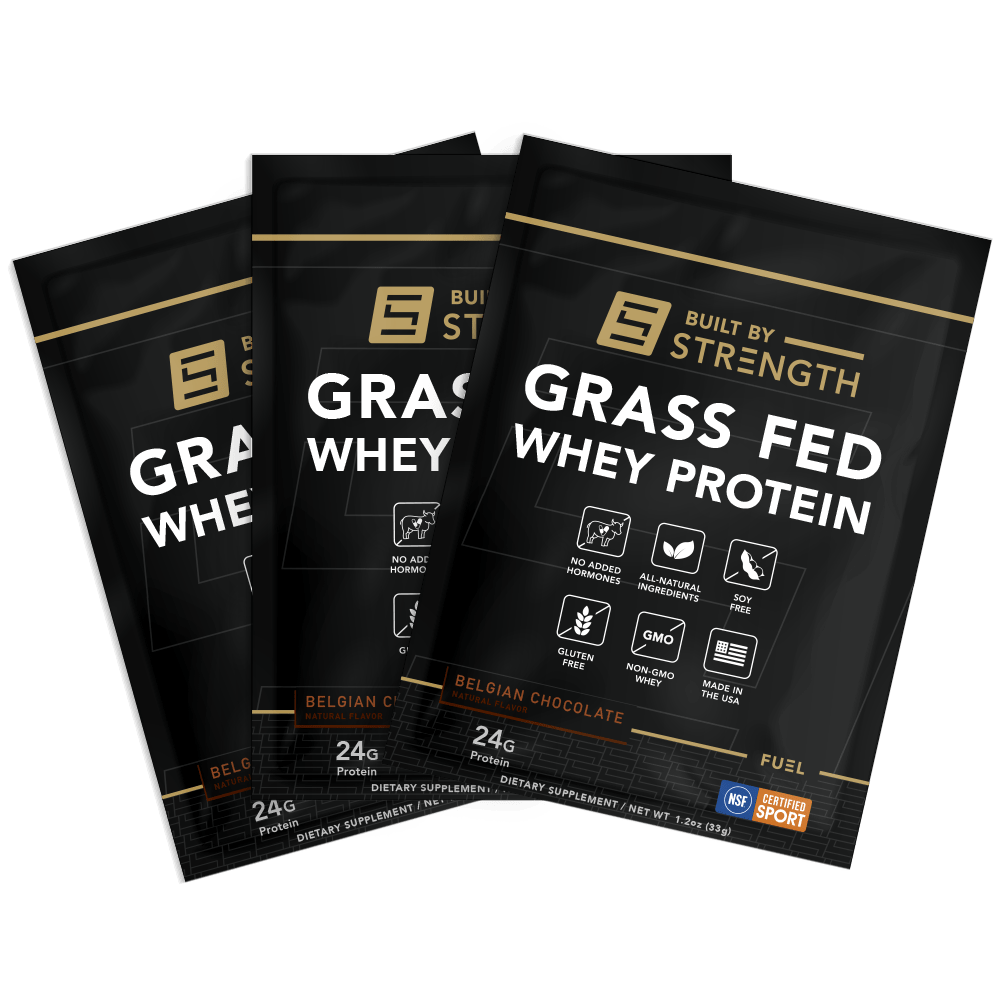 Built By Strength - 30 Pack Of Grass-fed Whey Protein Samples