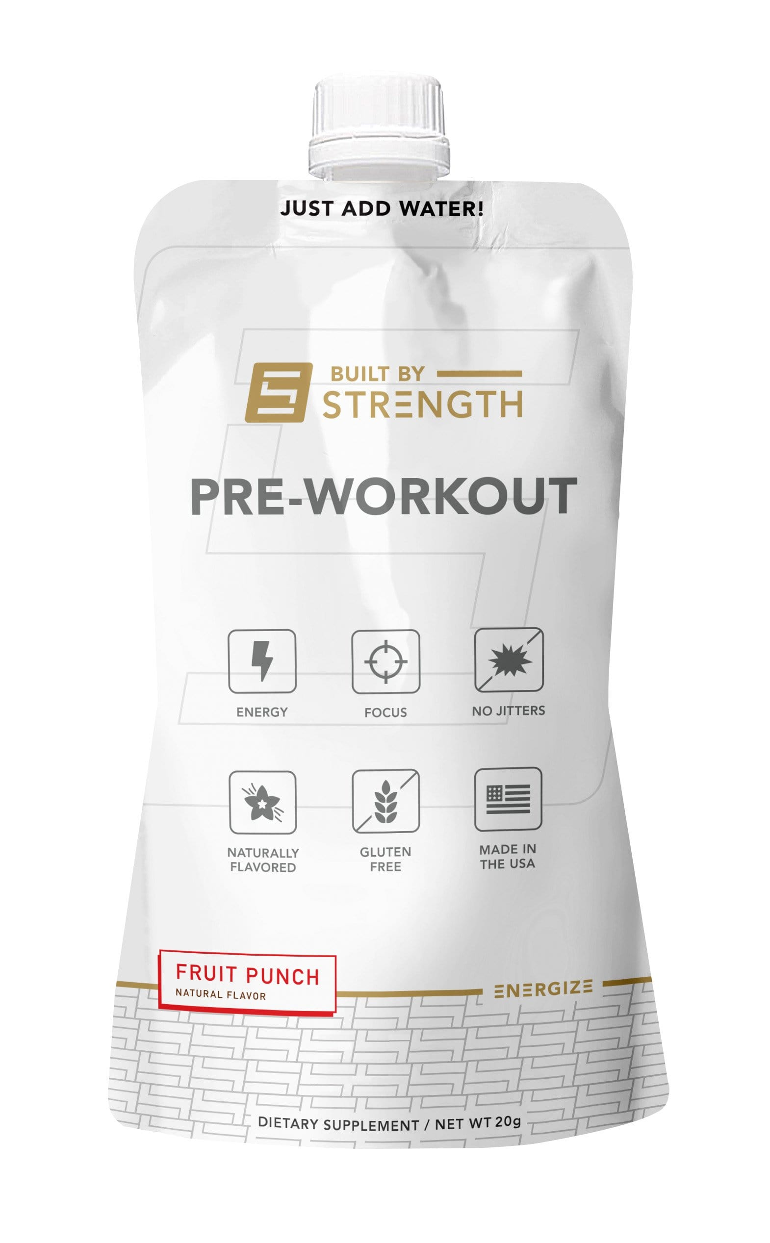 Built By Strength - Pre-workout Ready To Mix Pouch