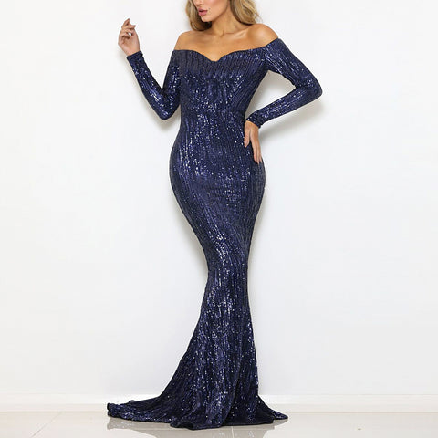 2019 Women Ruffle Long Maxi  Sexy Dress  (13)