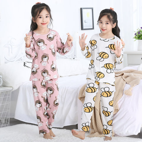 Children's pajamas set girls' clothing spring and autumn long sleeve