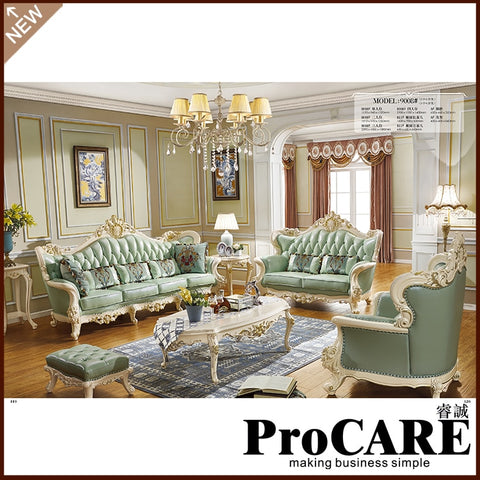Sofa set gold luxury Italian furniture