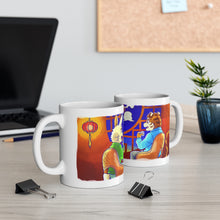 Load image into Gallery viewer, Snow, Moon, and Flowers Mugs - Moon