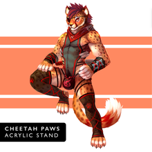 Load image into Gallery viewer, Cheetah Paws - Acrylic Stand
