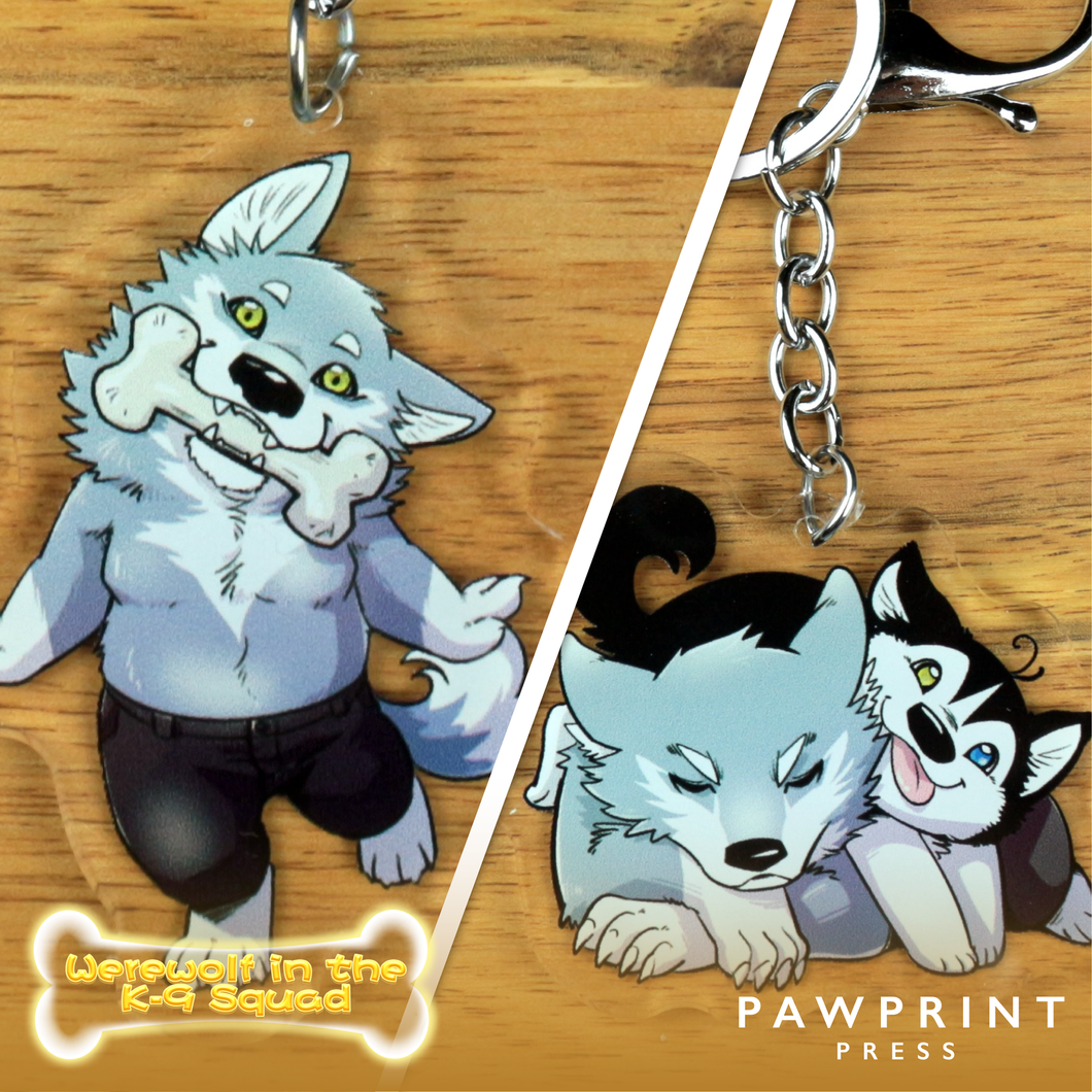Werewolf in the K-9 Squad - Keychains